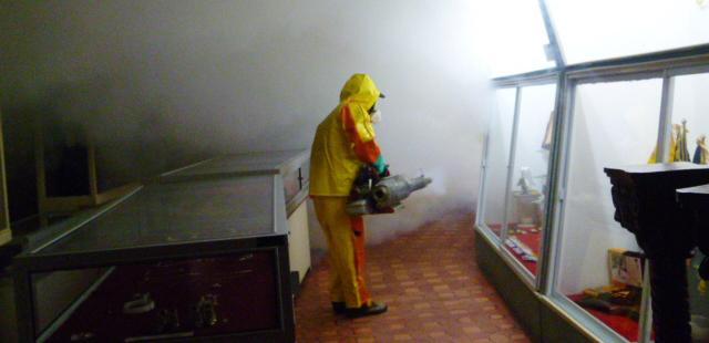 INPC realiza análisis de químicos utilizados para desinfectar bienes patrimoniales y emite recomendaciones